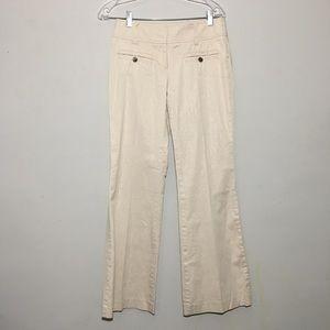 BEBE Wide Leg Cream Silver Metallic Stripe Pants 2